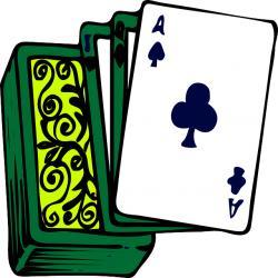Korttipakka, jonka päällä ristiässä